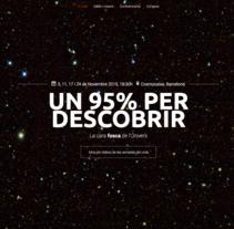 Vídeo Camara en las conferencias del IFAE la cara fosca de l'univers. Um projeto de Vídeo de Kilian Figueras Torras - 10-11-2015