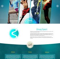 Pagina web - Zmag Sport. A Web Design project by Josue Muñoz Echeverría         - 02.11.2016