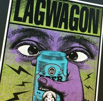 LAGWAGON - DUH -. A Design, Graphic Design, and Screen-printing project by Aaron Porlan Gese - 05-11-2016