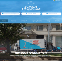 Mudanzas en Zaragoza Euromartínez. A Web Design project by Alex Costelo - 01-11-2016