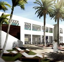 Ampliación de hotel en Sotogrande. Um projeto de Design, Ilustração, 3D, Arquitetura, Arte urbana e Infografia de José Manuel Soriano López         - 30.06.2016