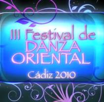 Intro :: III Festival de Danza Oriental - Cádiz 2010 . Um projeto de Motion Graphics, Animação, Eventos e Pós-produção de Javi de Lara         - 11.09.2010