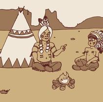 Haciendo el indio. A Illustration project by Jose Martínez         - 12.11.2016