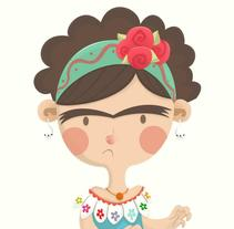 MiniFrida. A Illustration, Character Design, and Crafts project by Diego Sánchez         - 13.11.2013