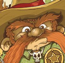 Sheriff. Un proyecto de Ilustración, Diseño de personajes, Bellas Artes, Diseño gráfico y Comic de Fernando Sala Soler - 20-11-2016