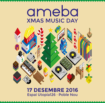 XMAS MUSIC DAY. A Illustration, Music, Audio, Art Direction, Events, and Graphic Design project by Not On Earth - Marc Soler - Nov 26 2016 12:00 AM