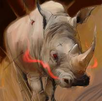 Rinoceront. A Illustration, and Fine Art project by Isem Garcia Massana - 14-12-2016