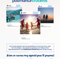 Flyer&Mailing Pullmantur. A Design project by Bei Carballo - Dec 16 2016 12:00 AM