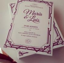 Invitación boda temática. A Br, ing, Identit, Fine Art, and Graphic Design project by Beatriz Lopez         - 31.12.2016
