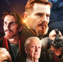 The Dark Knight Trilogy. Um projeto de Ilustração, Direção de arte e Design gráfico de Vikö Sviäs         - 07.01.2017