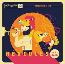 Hercules Jazz Band. Un proyecto de Ilustración y Diseño gráfico de Salmorejo Studio  - 09-01-2017