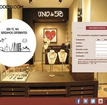 CONCURSO BRANDED CONTENT UNOde50.  FESTIVAL TOCADOS POR LA PUBLICIDAD. UNIVERSIDAD ANTONIO DE NEBRIJA.   3º PREMIO. A Design, Advertising, Br, ing, Identit, Fashion, Jewelr, and Design project by SANDRA ALVAREZ PEREZ - 11-01-2017