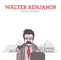 Infografía Walter Benjamin. Exilio y memoria.. Un proyecto de Diseño gráfico, Diseño de la información e Infografía de Alicia  Menal  - 11-01-2017