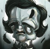 Edgar Allan Poe . Un proyecto de Ilustración de Sebastian Sanchez  - 12-01-2017