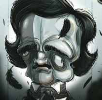 Edgar Allan Poe . A Illustration project by Sebastian Sanchez          - 12.01.2017