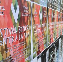 V Festival Benèfic Contra la SIDA. Un proyecto de Diseño gráfico de Dani Zapata         - 16.04.2016