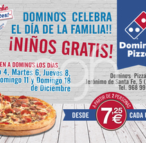 Cartelería Domino´s Pizza. A Design, Graphic Design, and Marketing project by Oscar  García Hernández - 07-01-2017