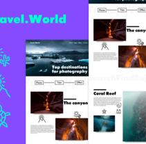 Travel.World. Un proyecto de UI / UX y Diseño Web de Gorka Aguirre Velasco         - 02.02.2017