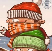 Nieve en Xàbia. Un proyecto de Diseño, Ilustración, Diseño de personajes, Bellas Artes, Diseño gráfico y Comic de Fernando Sala Soler - 22-01-2017