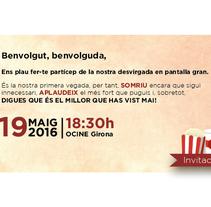 Entrades gala Cifog 2K16. Un proyecto de Diseño gráfico de Desirée Macías Prior         - 10.05.2016