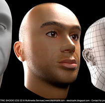 Cara en CGI 3D. Un proyecto de Diseño, 3D, Diseño de personajes y Diseño gráfico de Ivan C         - 10.01.2016