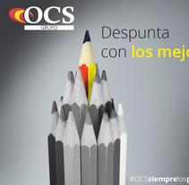 Banner GrupoOCS Escala Básica. Un proyecto de Diseño de Ana Eva de la Cal Ledesma - 17-01-2017