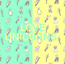 Love Unicorns. A Illustration, Art Direction, Graphic Design, and Packaging project by Tamara Baz         - 04.03.2017