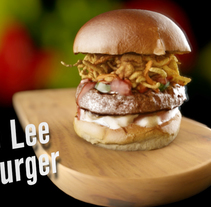 Hamburguer BruceLee. A 3D, and Animation project by Candido Romon Diaz         - 07.03.2017