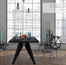 Visualizacion 3d de espacio interior. Um projeto de 3D e Arquitetura de interiores de Luis Donado         - 11.03.2016