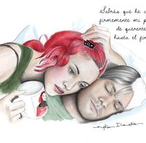 Retratos de Cine - Eternal Sunshine of The Spotless Mind. Um projeto de Ilustração de Eryka Ilarreta         - 16.03.2017