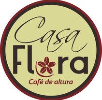 Logo y empaque café Casa Flora. Um projeto de Design e Design gráfico de Yadira M.R.         - 14.12.2015