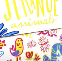 Strange animals | Stickers children card. Un proyecto de Ilustración y Lettering de Mónica Toledo - 28-03-2017