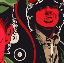 Angus Young | Poster. Um projeto de Ilustração e Design gráfico de Vincenzo Imbimbo - 09-10-2015
