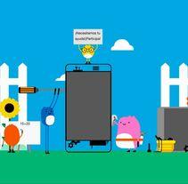 Campaña de Orange para el reciclaje de móviles.. Un proyecto de Animación de Carlos Arciniega González         - 12.04.2017