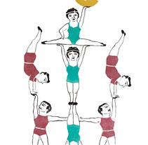 Acrobats...ale hop!!. Un proyecto de Ilustración de Berta Fortet Berne - 22-04-2017