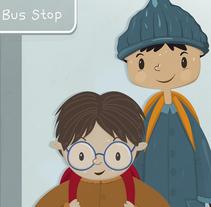 Bus Stop. Un proyecto de Diseño, Ilustración e Ilustración vectorial de Irene Ibáñez Gumiel - 27-04-2017