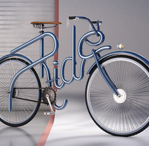 Cinema 4D Bike Lettering. A Design, Illustration, Advertising, 3D, Br, ing, Identit, Fine Art, Graphic Design, Product Design, Sculpture, Calligraph, and Lettering project by Sergio Kian         - 15.05.2017