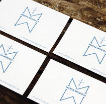 Tarjetas Marisa Montojo. Un proyecto de Diseño gráfico de Natalia Martín - 11-10-2016