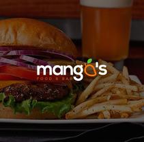 Logo : mango´s  - food & bar ( Propuestas ). A Design, Illustration, Advertising, Graphic Design, Digital retouching&Icon design project by Gustavo Chourio         - 12.06.2017