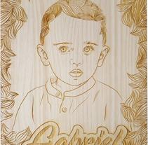 Retrato sobre madera. Um projeto de Ilustração de Jose Martínez         - 13.06.2017