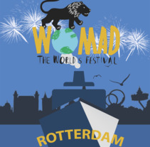 Womad Festival Rotterdam (T-shirt image). A Design, Br, ing, Identit, Fashion, Graphic Design, T, and pograph project by Adrià Salido Zarco         - 16.06.2017