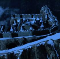 Matte Painting - Castillo en lo alto de las Dolomitas [Breakdown]. Um projeto de 3D de Marc Noguera         - 20.10.2017