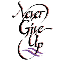 Never Give Up: proyecto final del curso con Victor Kams. A Calligraph project by Adán Quiroz         - 25.06.2017