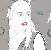Diseño estampado textil pioneras del deporte femenino . Un proyecto de Diseño, Ilustración, Diseño de vestuario, Moda y Diseño gráfico de inmaculada fernandez - 18-07-2017