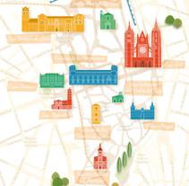 Mapa turístico ilustrado de León. A Graphic Design project by Ángel de Marcos López         - 27.07.2017