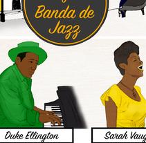 La historia del jazz - Revista Niú. Un proyecto de Ilustración e Infografía de Onguitta Sánchez         - 28.07.2017