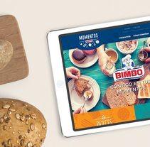 Momentos Bimbo. Un proyecto de Diseño, UI / UX, Br, ing e Identidad, Diseño Web y Desarrollo Web de Ameba  - 03-08-2017