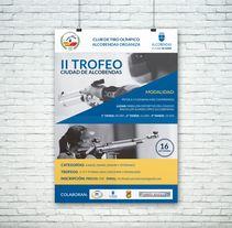 Poster para el Club de Tiro Olímpico Alcobendas (II Trofeo Ciudad de Alcobendas). Un proyecto de Diseño gráfico de Alfredo Moya - 04-08-2017