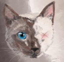 Pintura de gato. A Illustration project by Elisabeth García Naranjo         - 05.08.2017