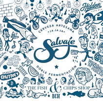 Cerveza Salvaje special edition para The Fish & Chips Shop (Barcelona). A Design, Illustration, Graphic Design, and Street Art project by Isaac López Virgili (ISAC)         - 14.08.2017